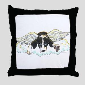 N angel Mtl Puppy Throw Pillow