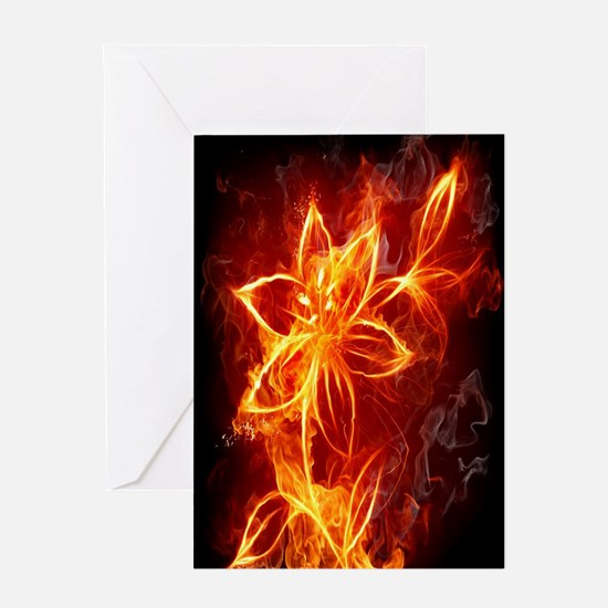 flower_fire_combination Greeting Card