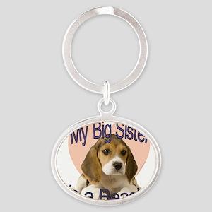 beagle sis Oval Keychain