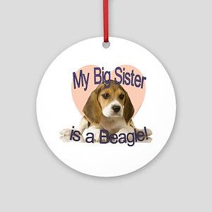 beagle sis Round Ornament