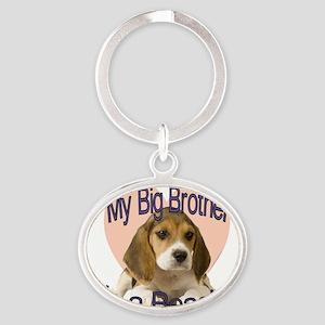 beagle bro Oval Keychain