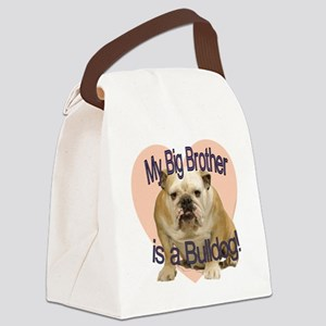 bulldog bro Canvas Lunch Bag