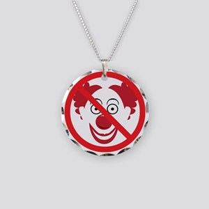 NoClowns Necklace Circle Charm