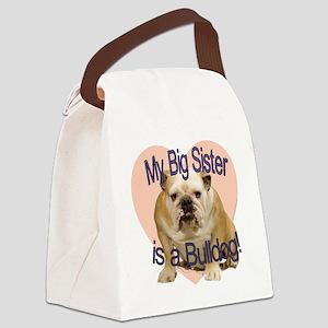 bulldog sis Canvas Lunch Bag