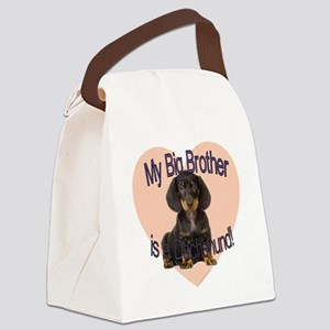 dachshund bro Canvas Lunch Bag