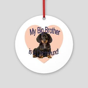 dachshund bro Round Ornament