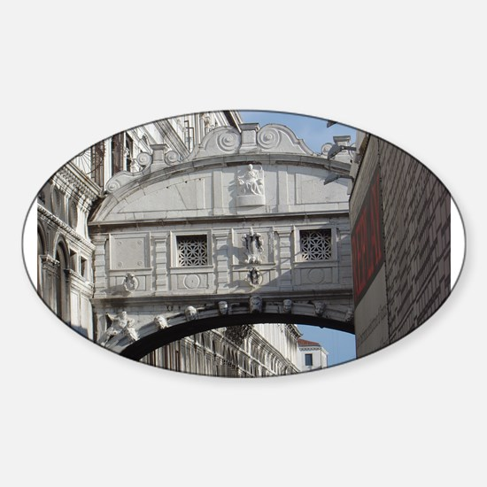 Bridge of Sighs Oval Decal
