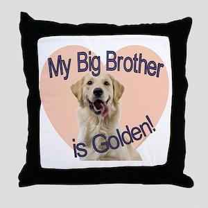 golden bro Throw Pillow