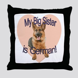 german sis Throw Pillow