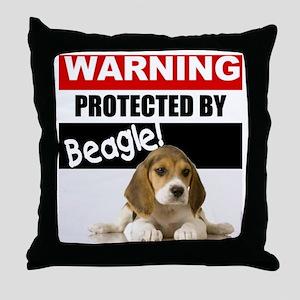 pro beagle Throw Pillow