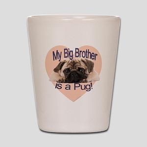 pug bro Shot Glass