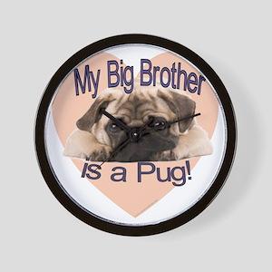 pug bro Wall Clock