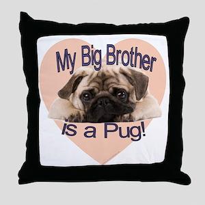 pug bro Throw Pillow