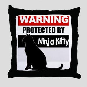 pro ninja black Throw Pillow