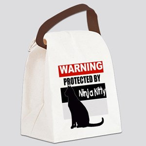 pro ninja black Canvas Lunch Bag