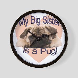 pug sis Wall Clock