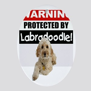 pro labradoodle.gif Oval Ornament