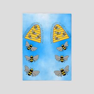 beekeepers fflop 5'x7'Area Rug