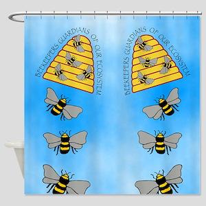beekeepers fflop Shower Curtain