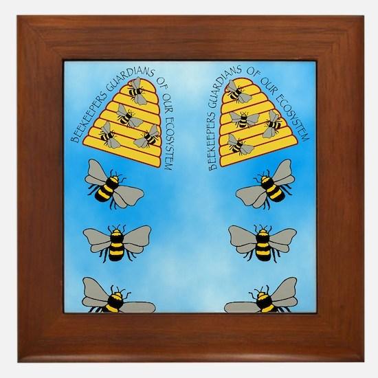 beekeepers fflop Framed Tile