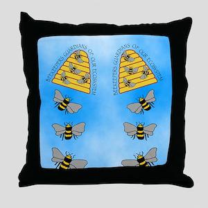beekeepers fflop Throw Pillow