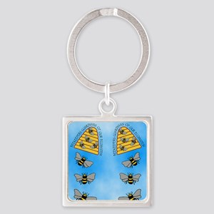 beekeepers fflop Square Keychain