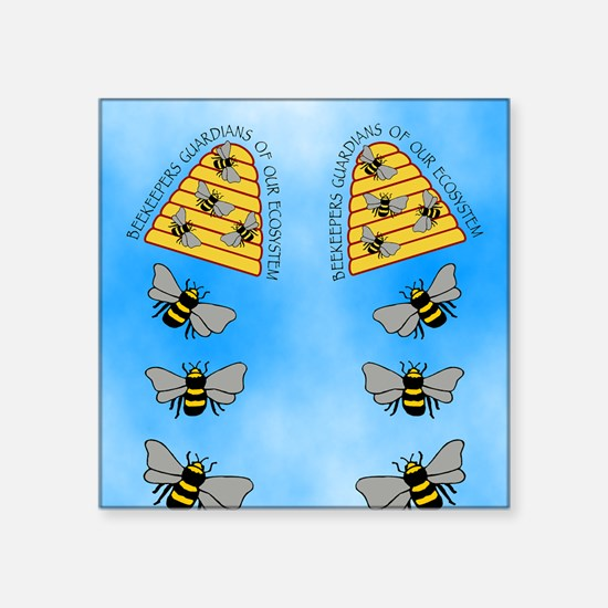 """beekeepers fflop Square Sticker 3"""" x 3"""""""