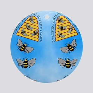 beekeepers fflop Round Ornament
