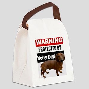 pro weiner dog Canvas Lunch Bag