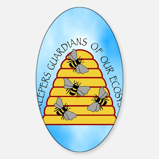 beekeepers iph4 Sticker (Oval)