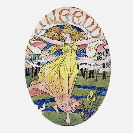JUGEND DECEMBER 1898 EDIT Oval Ornament