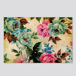 Bag Antique Floral Postcards (Package of 8)