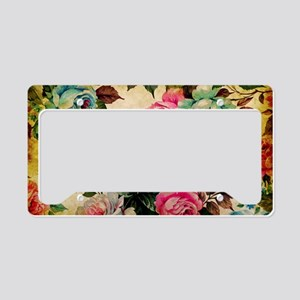 Bag Antique Floral License Plate Holder