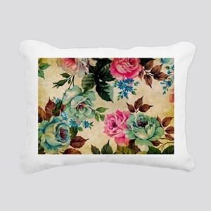Bag Antiq Flo Rectangular Canvas Pillow