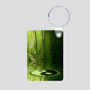 nooksleeve_green_night_yin Aluminum Photo Keychain