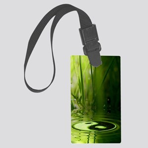 nooksleeve_green_night_yinyang Large Luggage Tag