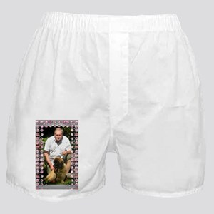 Personalizable Pink Bling Frame Boxer Shorts