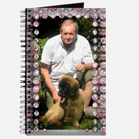 Personalizable Pink Bling Frame Journal