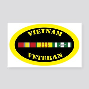 vietnam-oval-3-1 Rectangle Car Magnet