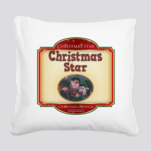 Cuddles - Christmas Star Square Canvas Pillow