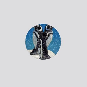 Penguinssnowgroundsigned Mini Button
