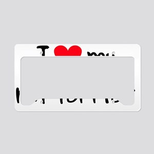 iheartratterrier License Plate Holder