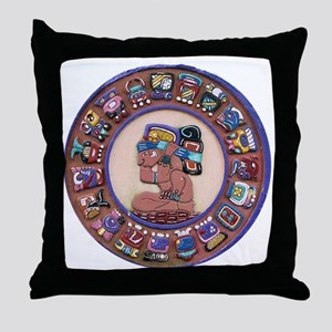 Mayan Calendar Stone Throw Pillow