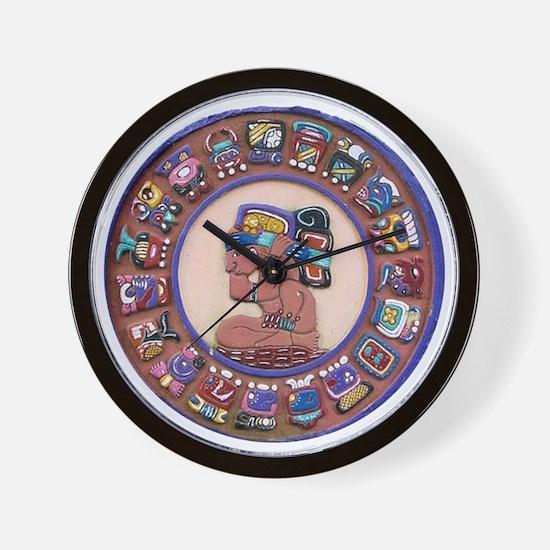 Mayan Calendar Stone Wall Clock