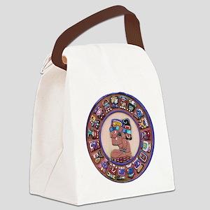 Mayan Calendar Stone Canvas Lunch Bag