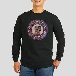 Mayan Calendar Stone Long Sleeve Dark T-Shirt