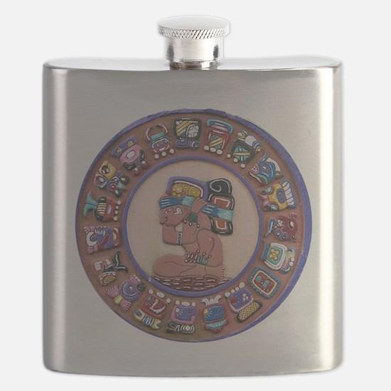 Mayan Calendar Stone Flask