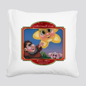 Going Home - Christmas Star Square Canvas Pillow