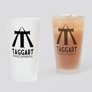 Taggart Transcontinental Black Drinking Glass