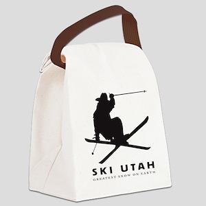 Ski Utah Canvas Lunch Bag